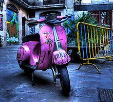 Pink Vespa by heavenideas