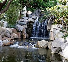 Chinese Gardens Australia Waterfall by Michelle Lia
