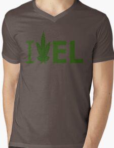 I Love EL Mens V-Neck T-Shirt