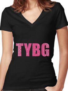 TYBG Women's Fitted V-Neck T-Shirt