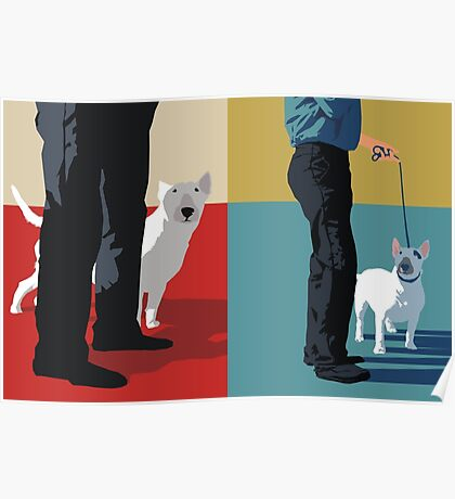 Bull terriers Poster