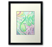 Crystalline Growth Framed Print