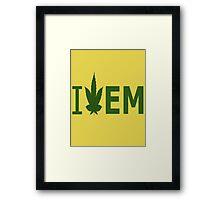 I Love EM Framed Print