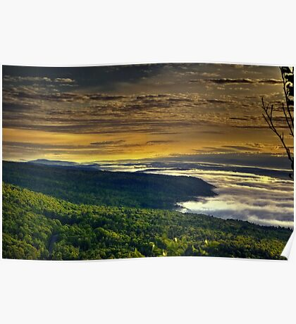 Sunrise over the Green Mountains of Vermont Poster