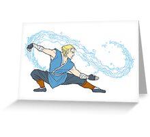 Anders as a Waterbender Greeting Card