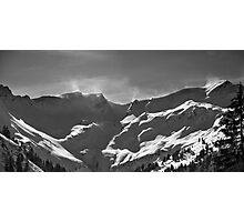 smoking mountains (Obertal, Allgaeu) Photographic Print