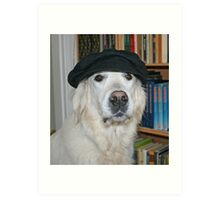 Ditte with MY new hat!! Art Print