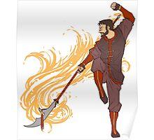 Hawke as a Firebender Poster