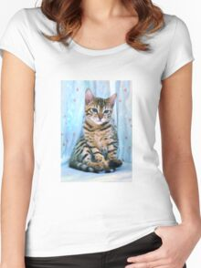 Bengal Kitten Women's Fitted Scoop T-Shirt
