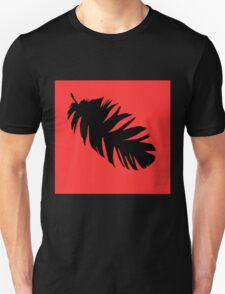 Feather in Black and Red  T-Shirt