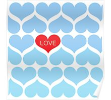 Ombre Blue One Love Poster