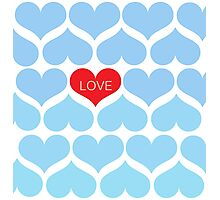 Ombre Blue One Love Photographic Print