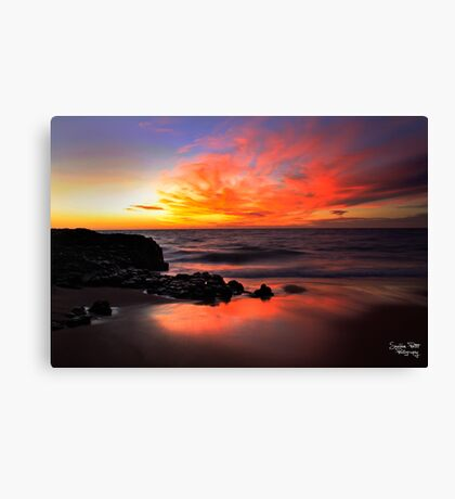 Fire on the Horizon Canvas Print