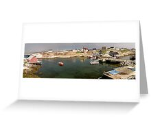 Peggy's Cove panoramic view, Canada Greeting Card