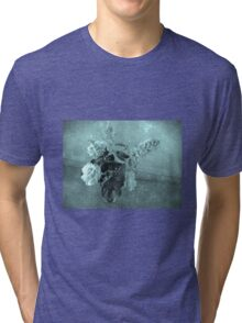 Roses and buddleias in a vase Tri-blend T-Shirt