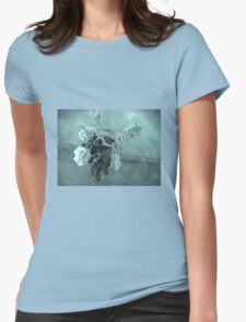 Roses and buddleias in a vase Womens Fitted T-Shirt