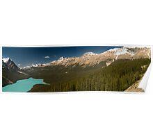 Panoramic view of Peyto lake, Canada Poster
