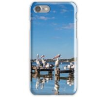 Pelicans on the Pier - Toukley NSW Australia iPhone Case/Skin