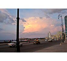 Malecon's sunset Photographic Print