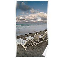 Varadero beach landscape, Cuba Poster