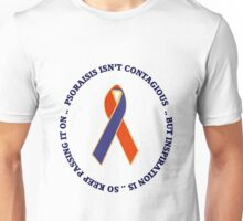 PSORIASIS AWARENESS UNISEX TEE SHIRTS, PILLOW,TOTE BAGS,CARDS ECT. Unisex T-Shirt
