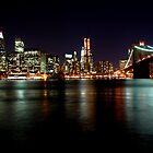 Manhattan at night by jdphotography