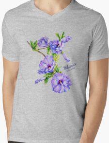 Hibiscus syriacus fine art Mens V-Neck T-Shirt