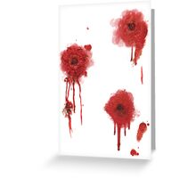 I got shot Greeting Card