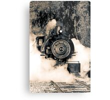 Flagg Coal Steam Engine Blow Out - Duotone Metal Print