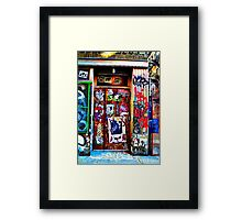 another page in my NYC Sticker book~ Framed Print