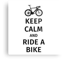 keep calm and ride a bike Metal Print