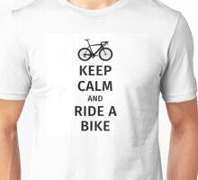 keep calm and ride a bike Unisex T-Shirt
