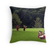 Fields. Changu Narayan Throw Pillow