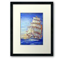 Sails at Sunrise Framed Print