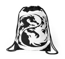 Dragon yin yang. Drawstring Bag