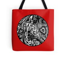 Circle 8 - Looking for My One True Love - Transparent Surround.  Tote Bag