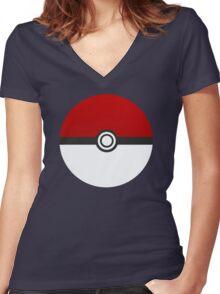 Poke Ball - Pokemon Women's Fitted V-Neck T-Shirt