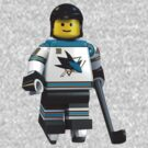 San Jose Sharks lego player No 12 by Johannes Wessmark