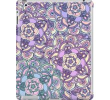 Aqua, Pink and Purple Doodled Pattern iPad Case/Skin