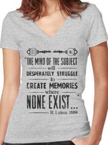 The Infinite Starter Remastered (Black) Women's Fitted V-Neck T-Shirt
