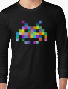 Cubist Invader Long Sleeve T-Shirt