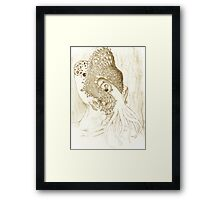 Minion of Cthulhu in Ceremonial Mask sketch Framed Print