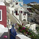 Santorini houses by Aleksandra Misic