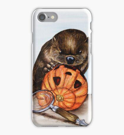 The Case of the Pumpkin Face iPhone Case/Skin