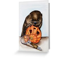 The Case of the Pumpkin Face Greeting Card