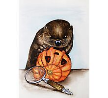 The Case of the Pumpkin Face Photographic Print
