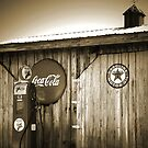 &quot;Old Fire Chief Gas Pump In Sepia&quot; by franticflagwave