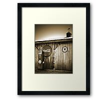 """Old Fire Chief Gas Pump In Sepia"" Framed Print"