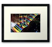 MUSICAL SOCKS Framed Print