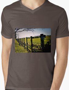 Rural Boundaries... Mens V-Neck T-Shirt